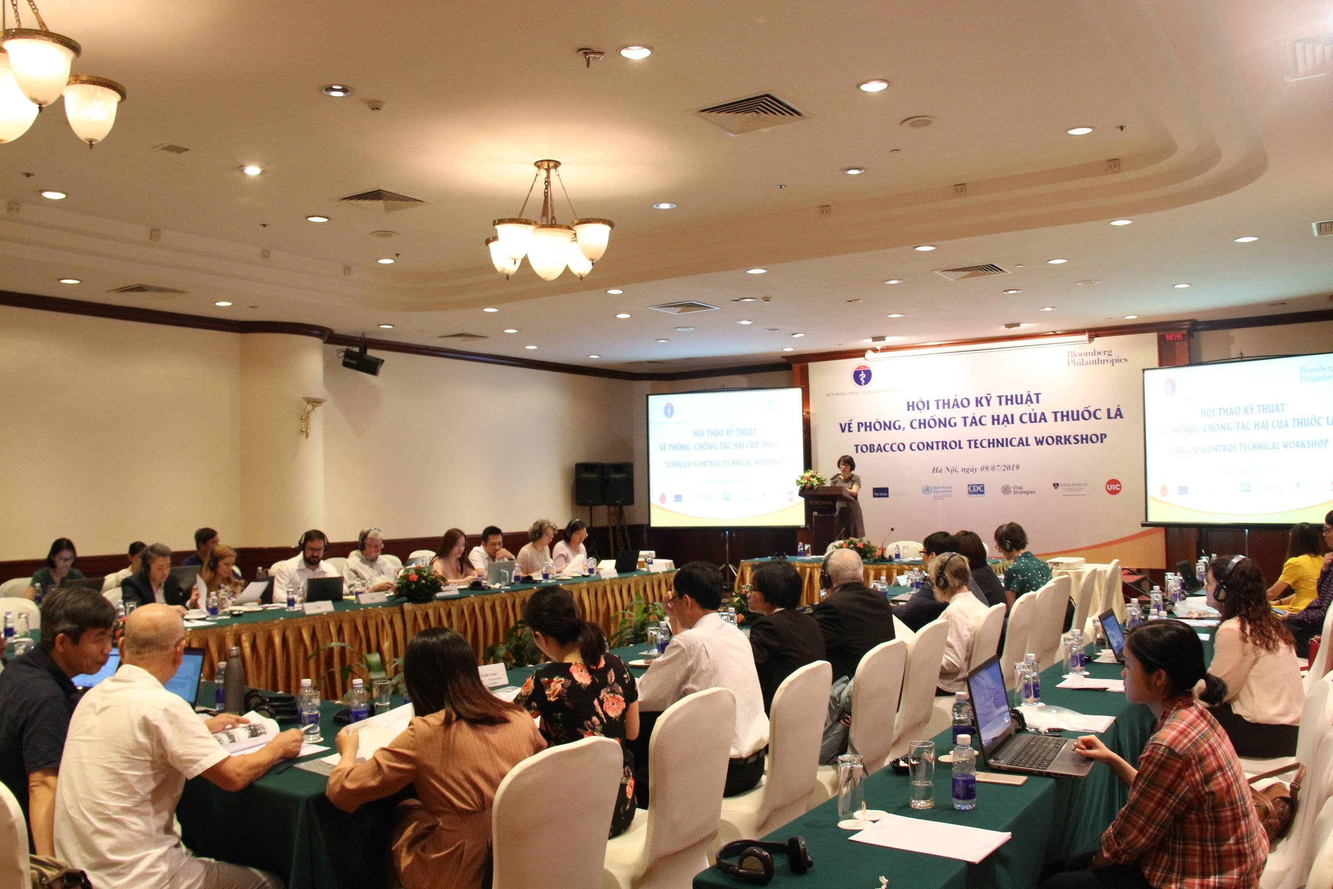 Hội thảo kỹ thuật về phòng, hống tác hại của thuốc lá tại Việt Nam