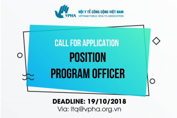 Call for Application - Program Officer