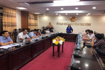 Phó chủ tịch UBND tỉnh Thái Bình chủ trì cuộc họp tham vấn về phòng chống tác hại thuốc lá tại Thái Bình được tổ chức bởi Hội YTCC VN