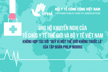 VPHA Supporting Recommendations by the World Health Organization and the Ministry of Health of Vietnam do not cooperate with the Philip Morris funded Foundation for a Smoke-Free World
