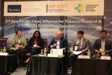 Hội YTCC VN dự hội nghị cấp cao liên minh các thành phố phòng chống tác hại thuốc lá và các bệnh không lây nhiễm khu vực châu Á TBD (AP-CAT)  lần 3 tại Singapore