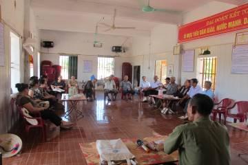 Họp giao ban quý của nhóm hội viên y tế công cộng người cao tuổi xã Đông Lâm, huyện Tiền Hải, Thái Bình