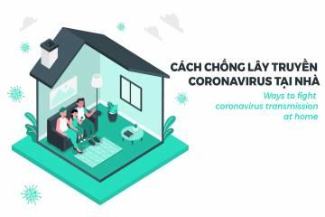 Cách chống lây truyền coronavirus tại nhà