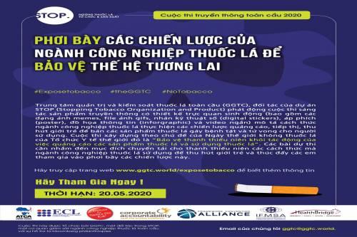 Phát động cuộc thi truyền thông: Phơi bày các chiến lược của ngành công nghiệp thuốc lá để bảo vệ thế hệ tương lai