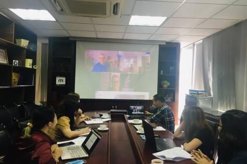 Buổi họp truyền thông cho chiến dịch Phòng Chống tác hại thuốc lá với các đối tác của Quỹ Vital Strategies