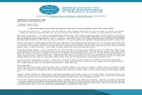 THÔNG CÁO BÁO CHÍ: Việt Nam đoạt giải áp phích hàng đầu cuộc thi Truyền thông Toàn cầu năm 2021