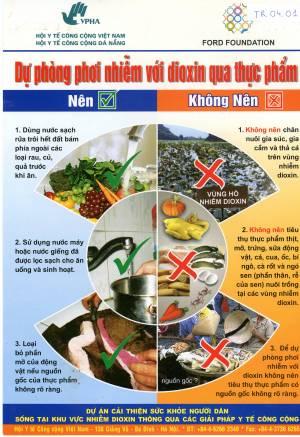 Dự phòng phơi nhiễm với Dioxin qua thực phẩm Nên x Không nên